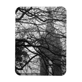 Gothic style chapel rectangular photo magnet
