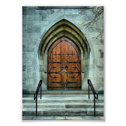 Gothic Style Church Door Photo Print Zazzle