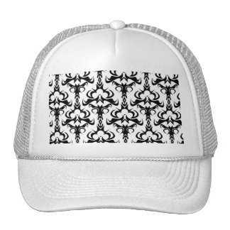 Gothic Style Damask Pattern Trucker Hat