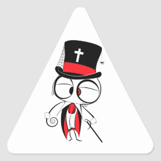 Gothic style doll triangle sticker