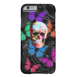 Gothic sugar skull & butterflies iPhone 6 case