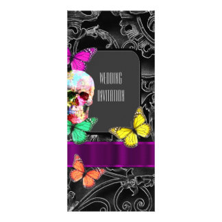 Gothic sugar skull wedding card