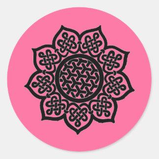 GOTHIC SUN pink Classic Round Sticker