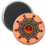 GOTHIC SUN  Red Ruby Gem Magnet