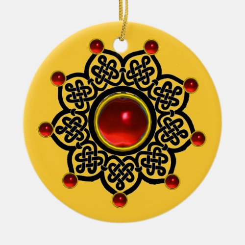 GOTHIC SUN  Red Ruby Gem,Yellow