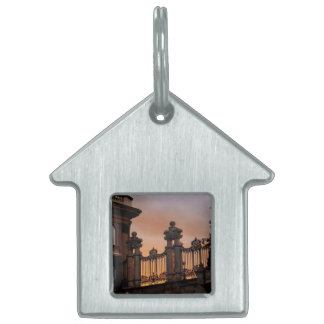 Gothic Sunset in Budapest Pet Name Tag