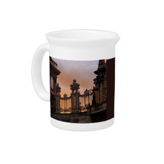 Gothic Sunset in Budapest Pitcher