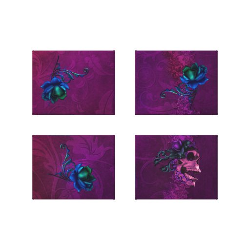 Gothic Surreal Roses Canvas Print