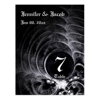 Gothic Table Number Card Postcard