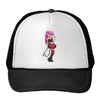 Gothic Teenage Girl With Guitar Trucker Hat