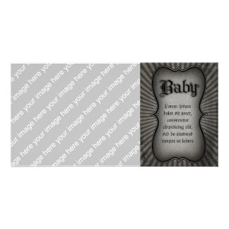 Gothic Text Baby Card