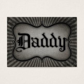 Gothic Text Daddy Business Card
