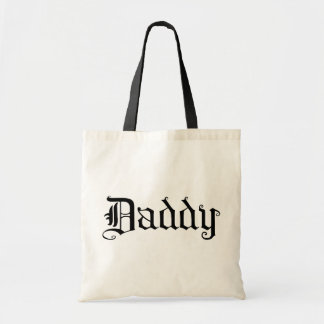 Gothic Text Daddy Tote Bag