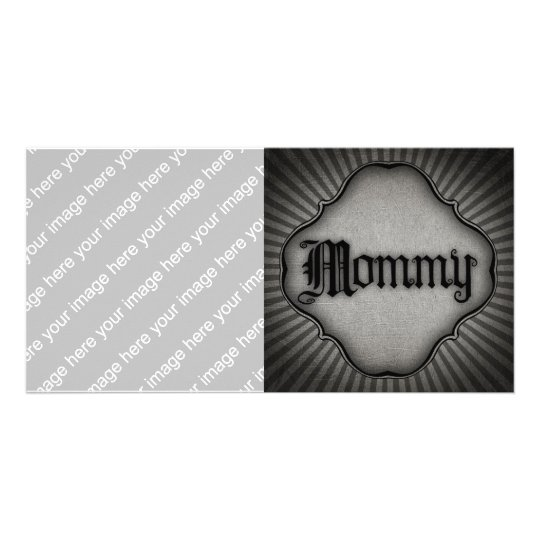 Gothic Text Mommy Card