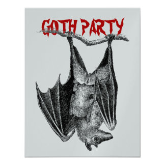 Gothic Themed Party Host Goth Parties Invitations