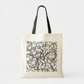 Gothic Thorns Natural/Black Budget Tote Bag