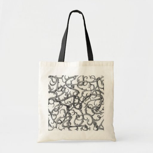 Gothic Thorns Natural/Black Budget Tote Budget Tote Bag
