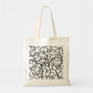 Gothic Thorns Natural Budget Tote Canvas Bag