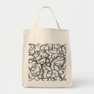 Gothic Thorns Natural Grocery Tote Bag