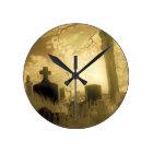 Gothic Time Round Clock