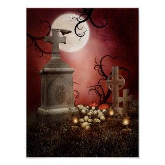 Gothic Tombstone Poster