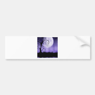 Gothic tree and moon bumper sticker