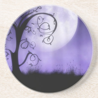 Gothic tree and moon drink coaster