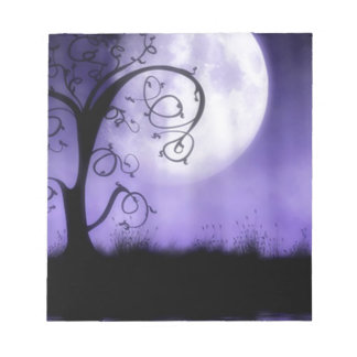 Gothic tree and moon notepads