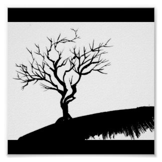 Gothic Tree Poster