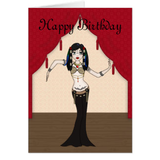 Gothic Tribal Fusion Bellydancer in Stage Scene Card