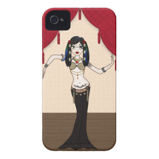 Gothic Tribal Fusion Bellydancer in Stage Scene iPhone 4 Case-Mate Case