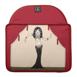 Gothic Tribal Fusion Bellydancer in Stage Scene Sleeve For MacBook Pro