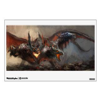 Gothic Triple-Head Dragon Wall Decal