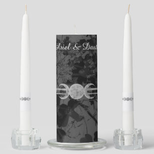 TRIPLE MOON BLACK SPELL CANDLE HOLDER  WITCH//PAGAN//OCCULT