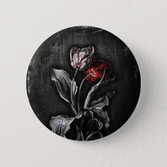 Gothic Tulips Pinback Button