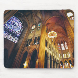 """Gothic Twist"" Notre Dame Cathedral Watercolor Mouse Pad"