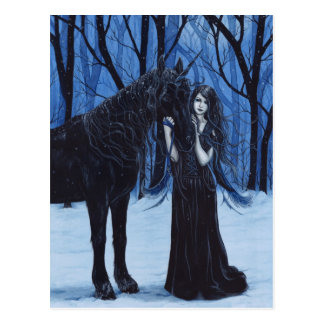 Gothic Unicorn and Fairy Postcard