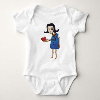 Gothic Valentine Baby Bodysuit