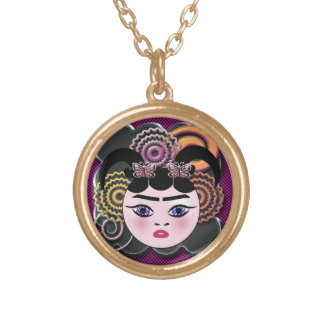 Gothic Vampella(Part of cutehead series, no-2) Gold Plated Necklace
