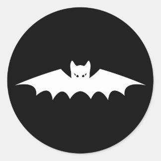 Gothic Vampire Bat Cat Round Stickers
