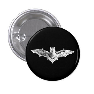 GOTHIC VAMPIRE BAT PINBACK BUTTON