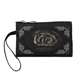 Gothic Vampire Black rose bag Change Purse