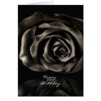 Gothic Vampire Black rose happy birthday Cards