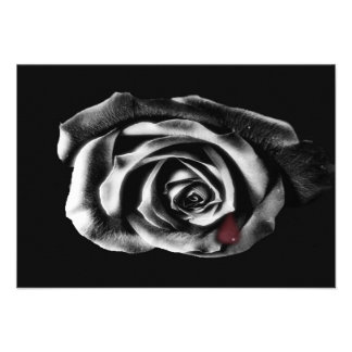 Gothic Vampire Black rose Personalized Announcements