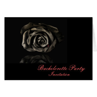 Gothic Vampire Black rose invitations Greeting Card