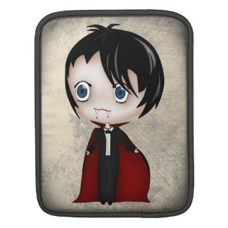 Gothic Vampire Boy and Girl in Chibi Style iPad Sleeve For iPads