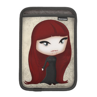 Gothic Vampire Boy and Girl in Chibi Style Sleeve For iPad Mini