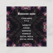Gothic vampire cross cool square business card