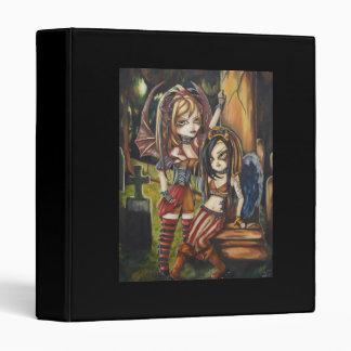 Gothic Vampire Dark Angel Graves Fantasy Notebook 3 Ring Binder