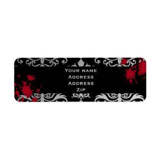 Gothic vampire Halloween wedding personalized Return Address Labels